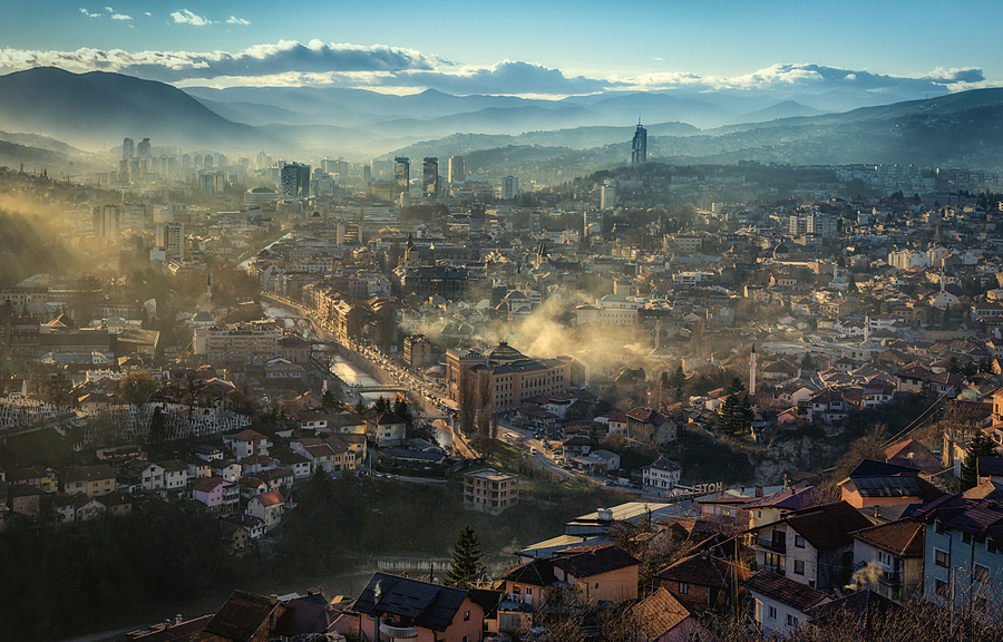 Sarajevo panorama | ZEISS SONNAR 55MM F1.8 FE ZA <br> Click image for more details, Click <b>X</b> on top right of image to close
