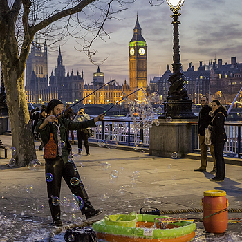 Bubble man and big ben | LENS MODEL NOT SET <br> Click image for more details, Click <b>X</b> on top right of image to close