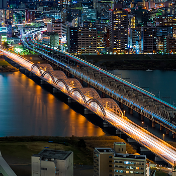 The Bridges of Osaka | ZEISS 85MM F1.8 SONNAR <br> Click image for more details, Click <b>X</b> on top right of image to close