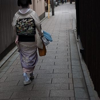 Maiko walking home Kyoto | LENS MODEL NOT SET <br> Click image for more details, Click <b>X</b> on top right of image to close