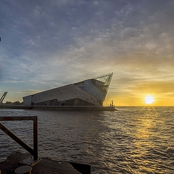 The Deep at Sunrise in Hull England | LENS MODEL NOT SET <br> Click image for more details, Click <b>X</b> on top right of image to close