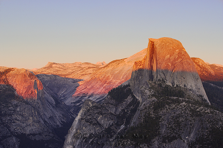 Sunset over Half Dome | LENS MODEL NOT SET <br> Click image for more details, Click <b>X</b> on top right of image to close