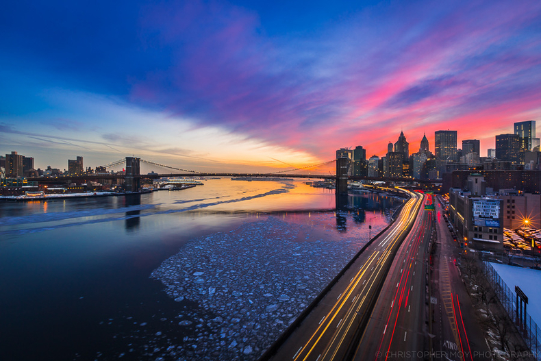Icy East River | LENS MODEL NOT SET <br> Click image for more details, Click <b>X</b> on top right of image to close