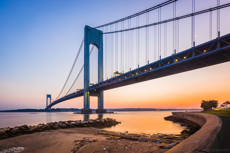 Sunset by the Verrazano Bridge | LENS MODEL NOT SET <br> Click image for more details, Click <b>X</b> on top right of image to close