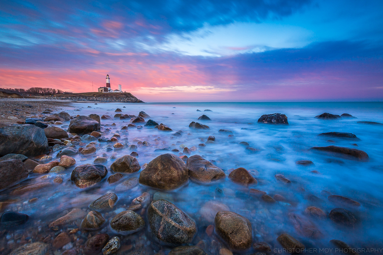 Sunset at Montauk Point Lighthouse | LENS MODEL NOT SET <br> Click image for more details, Click <b>X</b> on top right of image to close