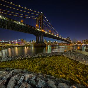 Manhattan Bridge from the Brookly