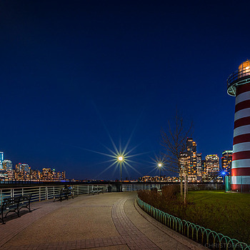 Lefrak Point Lighthouse and the Freedom Tower | LENS MODEL NOT SET <br> Click image for more details, Click <b>X</b> on top right of image to close