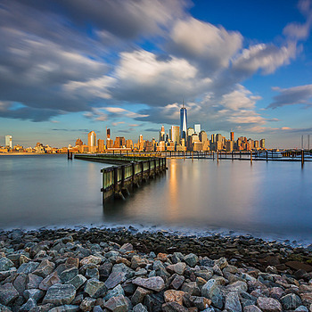 Lower Manhattan from Newport NJ