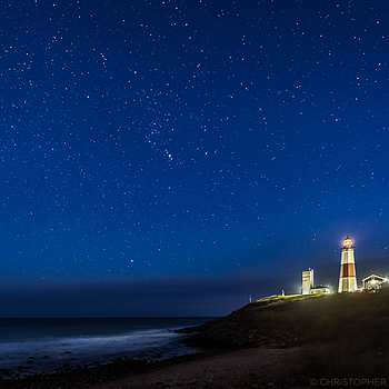 A starry night over Montauk Point Lighthouse | LENS MODEL NOT SET