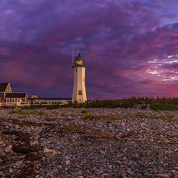 Sunrise at Scituate Lighthouse | LENS MODEL NOT SET