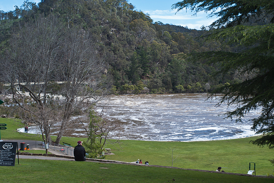Launceston's Cataract Gorge in flood | ZEISS JENA FLEKTOGON F2.4 35MM <br> Click image for more details, Click <b>X</b> on top right of image to close