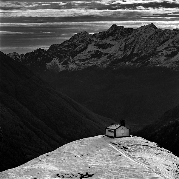 Chapel - Gran Paradiso National Park | ZEISS CF SONNAR 4/150 <br> Click image for more details, Click <b>X</b> on top right of image to close