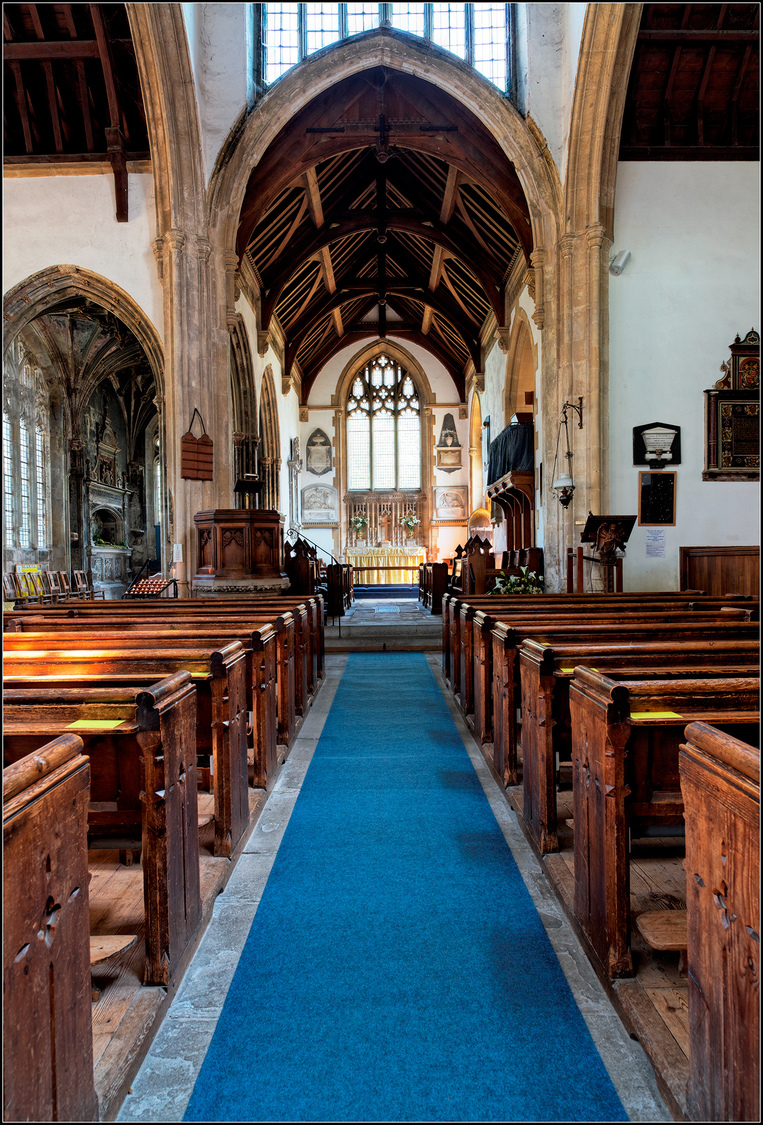 Looking up the Aisle, St Cyriac's Church, Lacock Village, Wiltshire, England | ZEISS DISTAGON F2.8 21MM <br> Click image for more details, Click <b>X</b> on top right of image to close