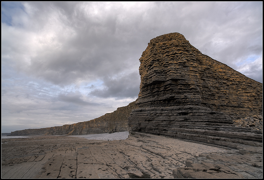 """Cliffs Next to Nash Point Lighthouse, Llantwit Major, Vale of Glamorgan, South Wales, UK"" 