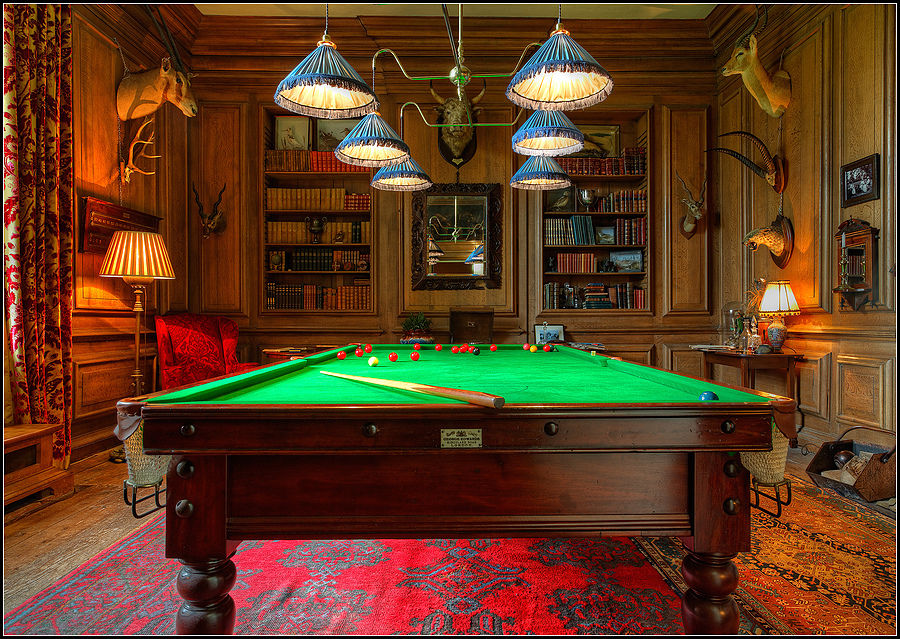 Billiard Room, Avebury Manor, Wiltshire, England | ZEISS DISTAGON F2.8 21MM <br> Click image for more details, Click <b>X</b> on top right of image to close