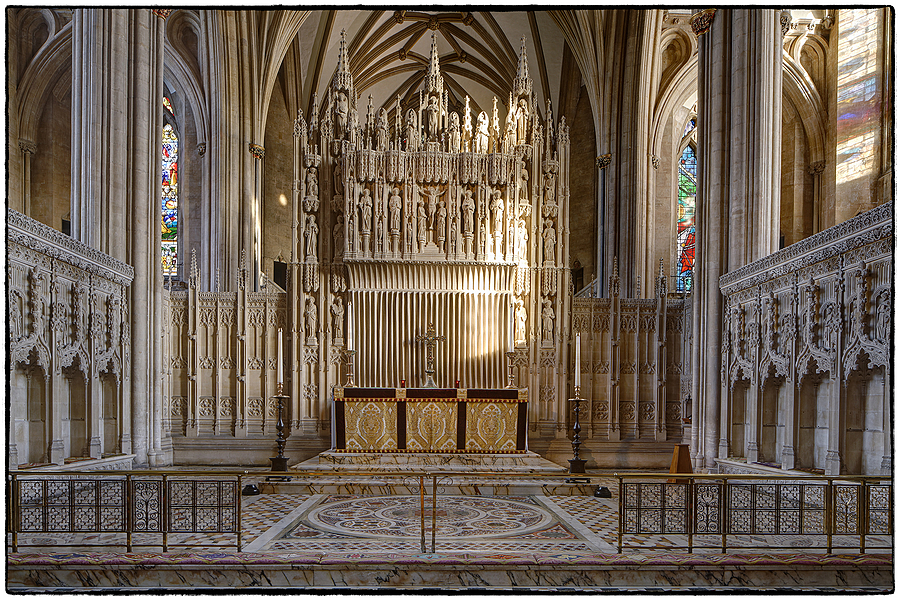 The High Altar, Bristol Cathedral, Avon & Somerset | LENS MODEL NOT SET <br> Click image for more details, Click <b>X</b> on top right of image to close