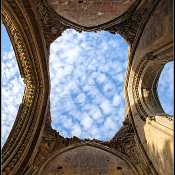 """Trinity, Ruins at Glastonbury Abbey, Somerset, England"" 