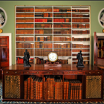"""Regency Library, Stourhead House, Wiltshire, England"" 