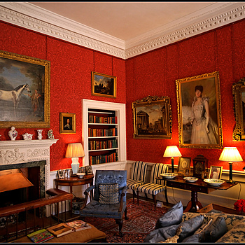 """Small Sitting Room, Stourhead House, Wiltshire, England"" 
