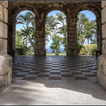 Through the Arches - Codrington College, St John, Barbados, West Indies