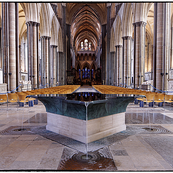 The Font, Salisbury Cathedral | LENS MODEL NOT SET <br> Click image for more details, Click <b>X</b> on top right of image to close