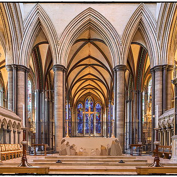 The High Altar, Salisbury Cathedral, Wiltshire, England
