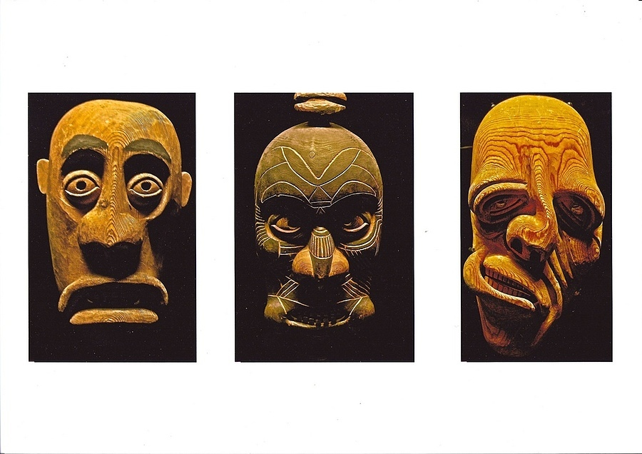 Nuka Uutuaq: Masks, 1934 (East Coast Greenland). Musée du quai Branly, Paris | ZEISS ZA VARIO-SONNAR DT F3.5-F4.5 16-80MM <br> Click image for more details, Click <b>X</b> on top right of image to close