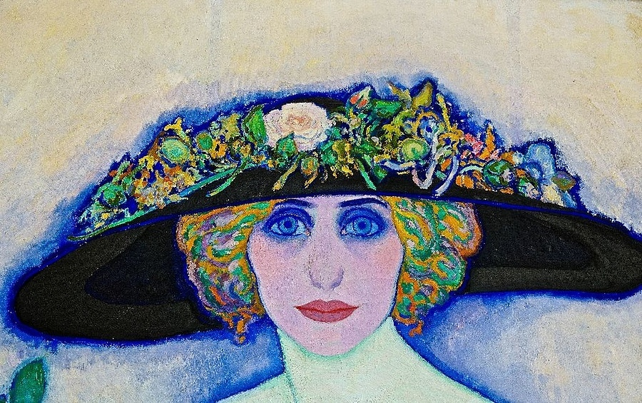 Leo Gestel: Woman with peach (cut-out), 1911 | LENS MODEL NOT SET <br> Click image for more details, Click <b>X</b> on top right of image to close