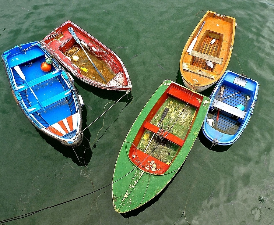 Composition with rowing boats, Bermeo | LENS MODEL NOT SET <br> Click image for more details, Click <b>X</b> on top right of image to close