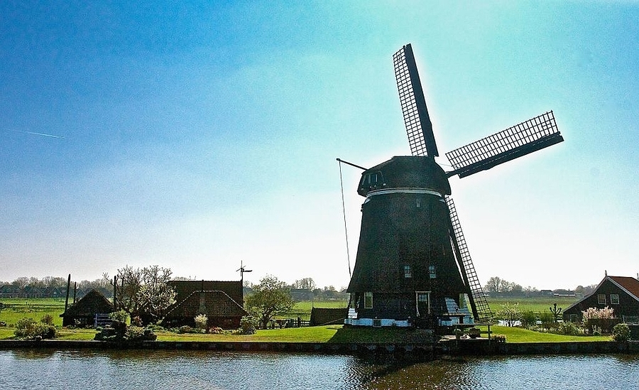 Mill at the North Holland Canal | LENS MODEL NOT SET <br> Click image for more details, Click <b>X</b> on top right of image to close