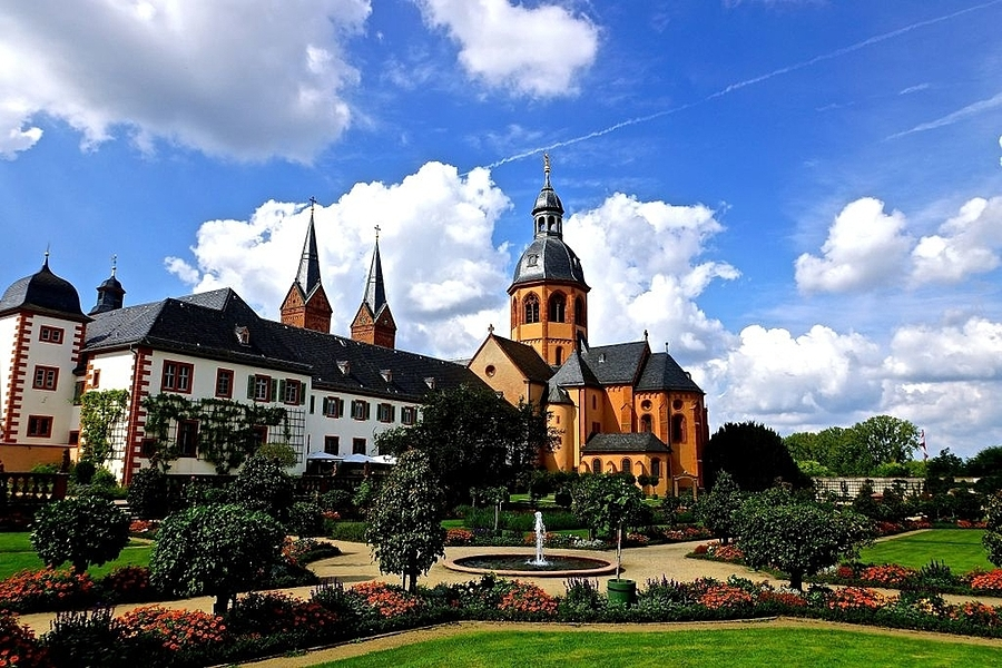 Einhard Basilica and Monastery garden, Seligenstadt | LENS MODEL NOT SET <br> Click image for more details, Click <b>X</b> on top right of image to close