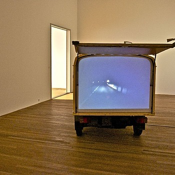 Roman Signer: Nachtfahrt (Night ride), 1999, Bonnefantenmuseum, Maastricht | ZEISS ZA VARIO-SONNAR DT F3.5-F4.5 16-80MM <br> Click image for more details, Click <b>X</b> on top right of image to close