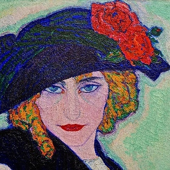 Leo Gestel: Woman with cigarette (cut-out), 1911 | LENS MODEL NOT SET