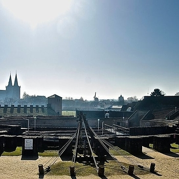 Xanten, Archeological Park, Roman Amphitheatre | LENS MODEL NOT SET <br> Click image for more details, Click <b>X</b> on top right of image to close