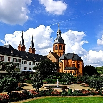 Einhard Basilica and Monastery garden, Seligenstadt | LENS MODEL NOT SET