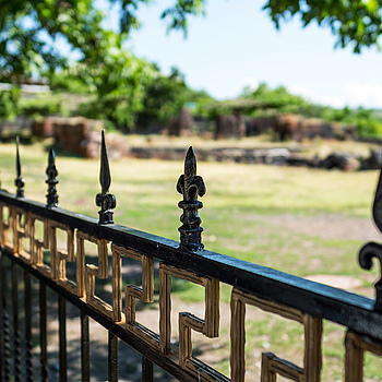 Fence for 4th century Royal Crypt | ZEISS ZA DISTAGON 24MM F2.0 <br> Click image for more details, Click <b>X</b> on top right of image to close