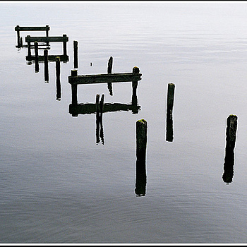 Long disused jetty - Lough Neagh, N. Ireland | ZEISS G PLANAR 45MM F2 <br> Click image for more details, Click <b>X</b> on top right of image to close