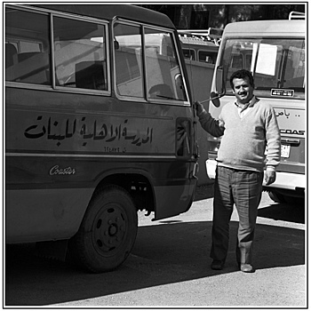 School bus driver, Amman, Jordan | ZEISS SL66 PLANAR 80MM F2.8 <br> Click image for more details, Click <b>X</b> on top right of image to close