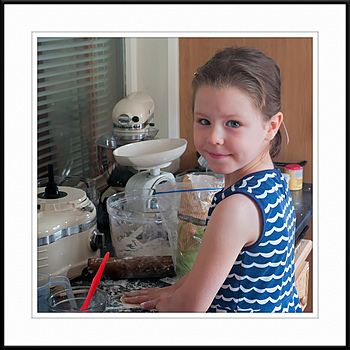My grand-daughter Olivia making scones | ZEISS ZM C BIOGON F2.8 35MM