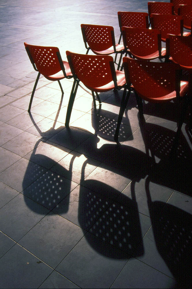 Chairs and Shadows | ZEISS JENA 24MM F2.8 <br> Click image for more details, Click <b>X</b> on top right of image to close