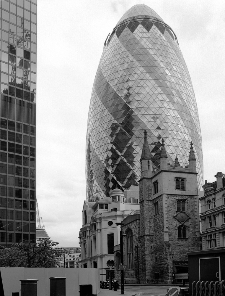 The 'Gherkin' Building, London | ZEISS CF DISTAGON 4/50 <br> Click image for more details, Click <b>X</b> on top right of image to close
