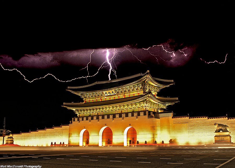 Gyeong Bok Palace Electrical Storm | ZEISS DISTAGON F2.0 35MM <br> Click image for more details, Click <b>X</b> on top right of image to close