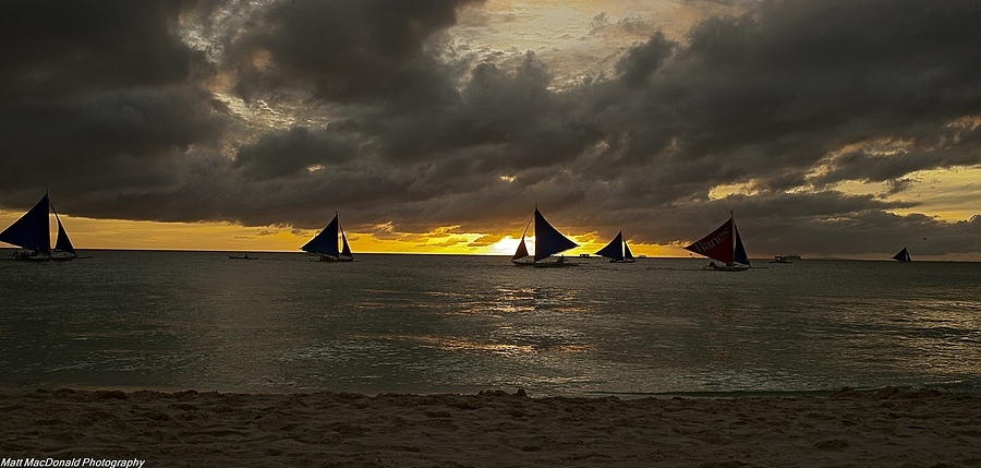 Boracay Beach Sailboats | ZEISS DISTAGON F2.0 35MM <br> Click image for more details, Click <b>X</b> on top right of image to close