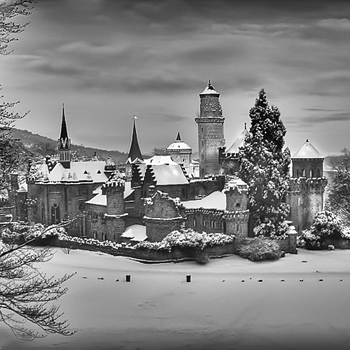 German Castle In Winter | ZEISS ZM C BIOGON F2.8 35MM <br> Click image for more details, Click <b>X</b> on top right of image to close