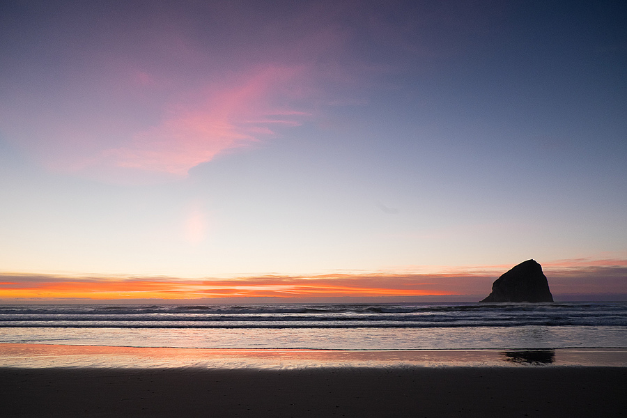 Sunset at Pacific City, Oregon | LENS MODEL NOT SET <br> Click image for more details, Click <b>X</b> on top right of image to close